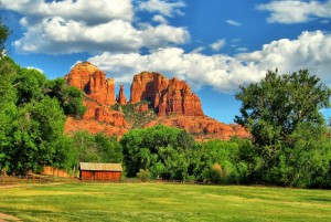 Sedona Area Crescent Moon Ranch at the end of our Road