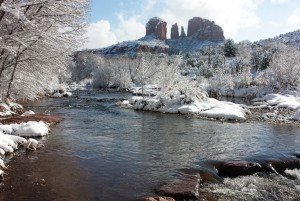 Sedona Area Red Rock Crossing in the Snow